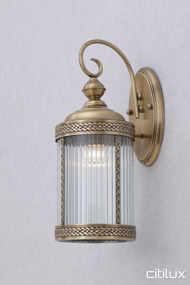 Newport traditional outdoor brass wall light elegant range citilux aloadofball Image collections