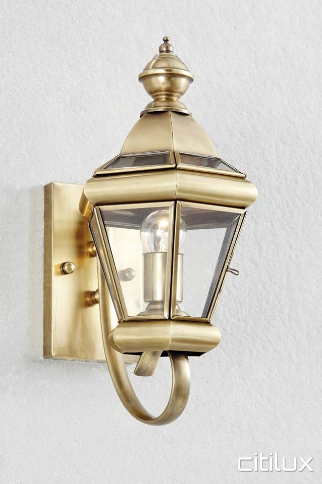 Orchard hills traditional outdoor brass wall light elegant range citilux aloadofball Gallery