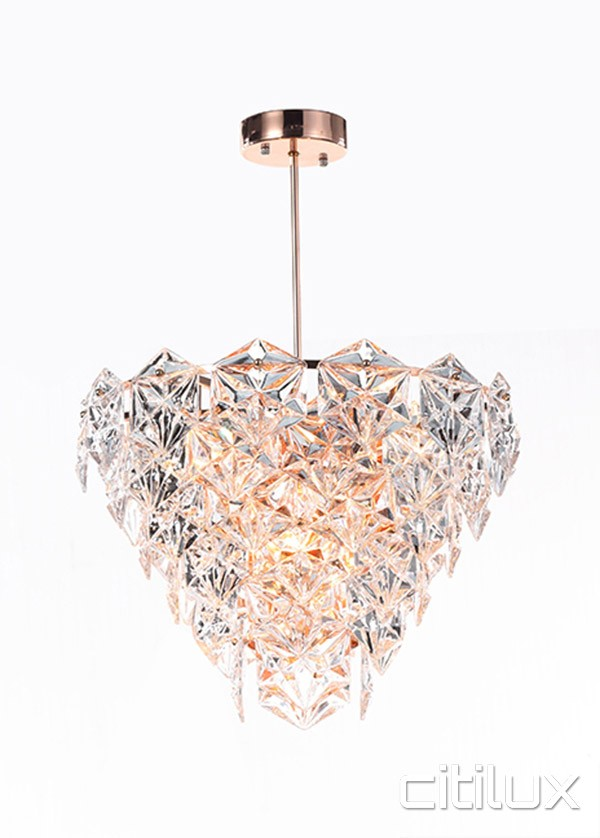 Peria 6 Lights Pendant Rose Gold Citilux