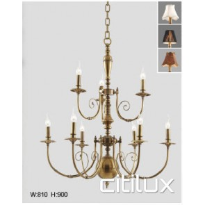 Arncliffe Classic European Style Brass Pendant Light Elegant Range Citilux