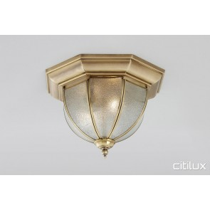 Balmain Classic Brass Made Flush Mount Ceiling Light Elegant Range Citilux