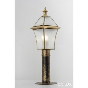 Banksmeadow Classic Outdoor Brass Made Post Light Elegant Range Citilux