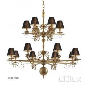Barangaroo Classic European Style Brass Pendant Light Elegant Range Citilux