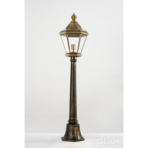 Bexley North Classic Outdoor Brass Made Post Light Elegant Range Citilux