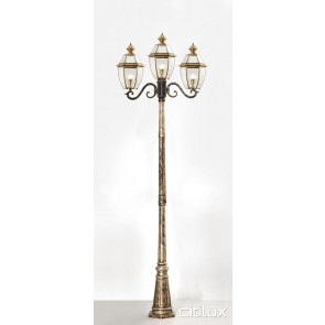 Brookvale Classic Outdoor Brass Made Post Light Elegant Range Citilux