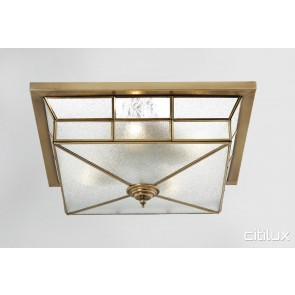 Bungarribee Traditional Brass Made Flush Mount Ceiling Light Elegant Range Citilux