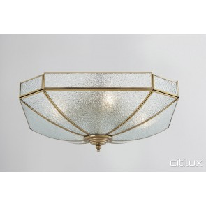 Burwood Classic Brass Made Flush Mount Ceiling Light Elegant Range Citilux