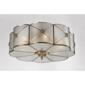 Cabarita Classic Brass Made Flush Mount Ceiling Light Elegant Range Citilux