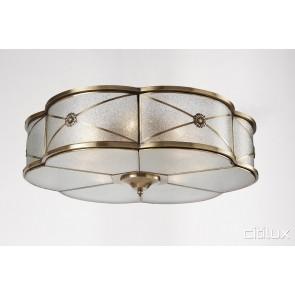 Cabramatta Traditional Brass Made Flush Mount Ceiling Light Elegant Range Citilux