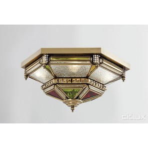 Cabramatta West Classic Brass Made Flush Mount Ceiling Light Elegant Range Citilux