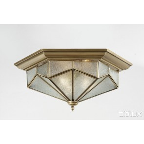 Canada Bay Classic Brass Made Flush Mount Ceiling Light Elegant Range Citilux