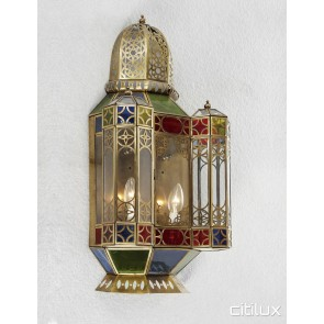 Carramar Classic Brass Wall Light Elegant Range Citilux