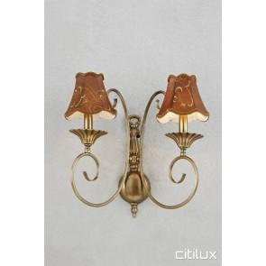 Cheltenham Classic European Style Brass Wall Light Elegant Range Citilux