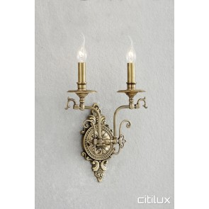 Chifley Classic European Style Brass Wall Light Elegant Range Citilux