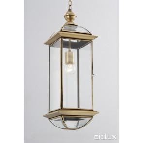 Clareville Classic Outdoor Brass Pendant Light Elegant Range Citilux