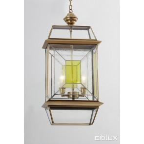 Clontarf Classic Outdoor Brass Pendant Light Elegant Range Citilux