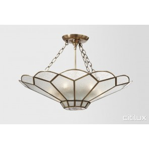 Dundas Valley Classic Brass Made Semi Flush Mount Ceiling Light Elegant Range Citilux