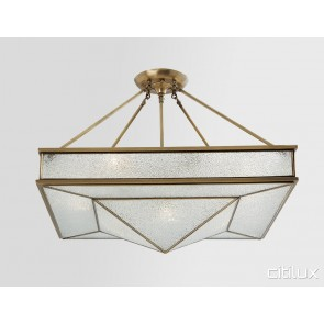 Eagle Vale Classic Brass Made Semi Flush Mount Ceiling Light Elegant Range Citilux