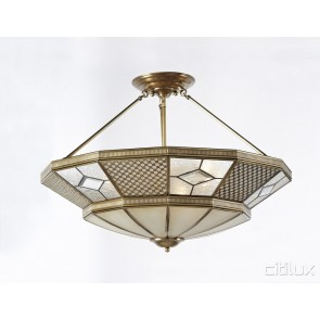Edmondson Park Classic Brass Made Semi Flush Mount Ceiling Light Elegant Range Citilux