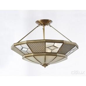 Edmondson Park Classic Brass Made Semi Flush Mount Ceiling Light Elegant Range Citilux