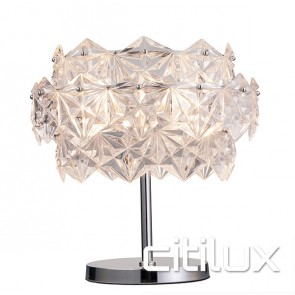 Elsa 3 Lights Talbe Lamp Chrome Citilux