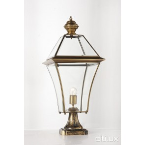 Fairfield East Classic Outdoor Brass Made Pillar Mount Light Elegant Range Citilux