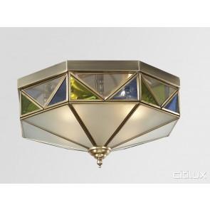 Haymarket Classic Brass Made Flush Mount Ceiling Light Elegant Range Citilux