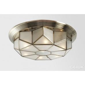 Helensburgh Classic Brass Made Flush Mount Ceiling Light Elegant Range Citilux