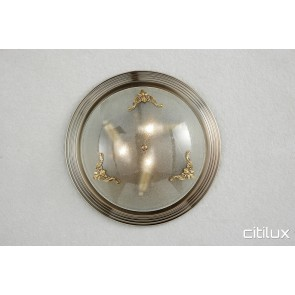 Hillsdale Traditional Brass Made Flush Mount Ceiling Light Elegant Range Citilux
