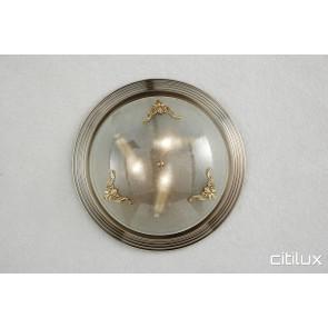 Hillsdale Traditional Brass Made Flush Mount Ceiling Light Elegant Range Citilux