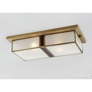 Jordan Springs Traditional Brass Made Flush Mount Ceiling Light Elegant Range Citilux