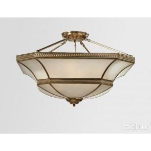 Lurnea Classic Brass Made Semi Flush Mount Ceiling Light Elegant Range Citilux