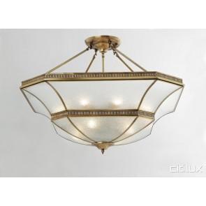 Macquarie Links Classic Brass Made Semi Flush Mount Ceiling Light Elegant Range Citilux