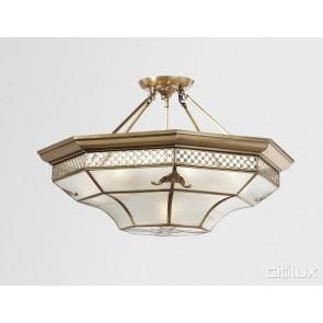 Marayong Classic Brass Made Semi Flush Mount Ceiling Light Elegant Range Citilux