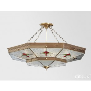 Mascot Classic Brass Made Semi Flush Mount Ceiling Light Elegant Range Citilux