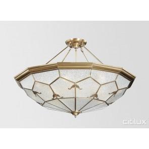 Melrose Park Classic Brass Made Semi Flush Mount Ceiling Light Elegant Range Citilux