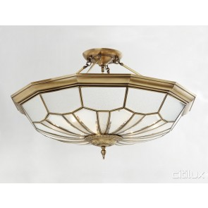 Menangle Park Classic Brass Made Semi Flush Mount Ceiling Light Elegant Range Citilux