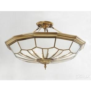 Menangle Park Classic Brass Made Semi Flush Mount Ceiling Light Elegant Range Citilux