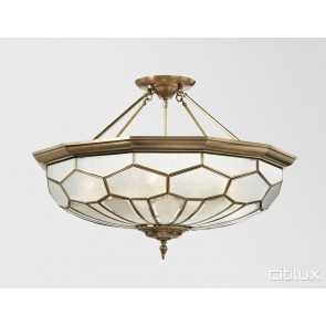 Middle Cove Classic Brass Made Semi Flush Mount Ceiling Light Elegant Range Citilux
