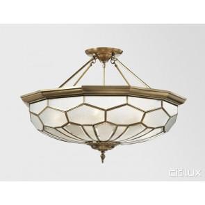 Middle Cove Classic Brass Made Semi Flush Mount Ceiling Light Elegant Range Citilux