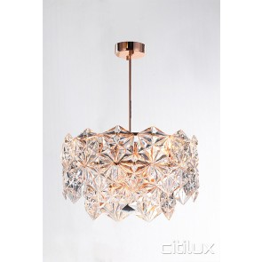 Mirka 6 Lights Pendant Rose Gold Citilux
