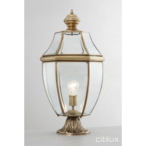 Mortdale Classic Outdoor Brass Made Pillar Mount Light Elegant Range Citilux