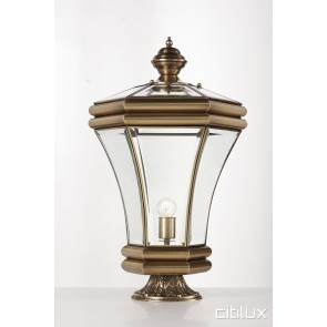 Mount Kuring-Gai Traditional Outdoor Brass Made Pillar Mount Light Elegant Range Citilux