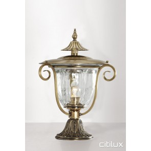 Narrabeen Traditional Outdoor Brass Made Pillar Mount Light Elegant Range Citilux