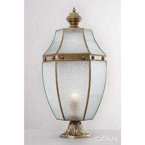 Neutral Bay Traditional Outdoor Brass Made Pillar Mount Light Elegant Range Citilux