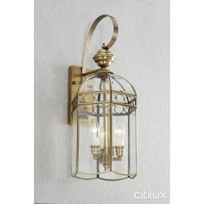 North Parramatta Traditional Outdoor Brass Wall Light Elegant Range Citilux
