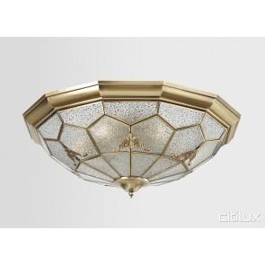 Northwood Traditional Brass Made Flush Mount Ceiling Light Elegant Range Citilux