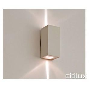 Lexidex Rectangle 120mm Up Down Flush Wall Light