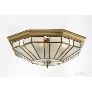 Oatley Traditional Brass Made Flush Mount Ceiling Light Elegant Range Citilux