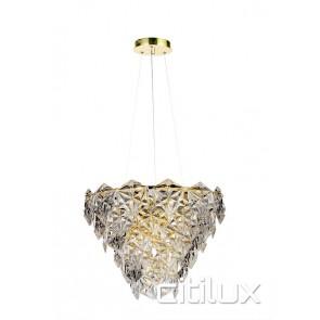 Peria 6 Lights Pendant Gold Citilux